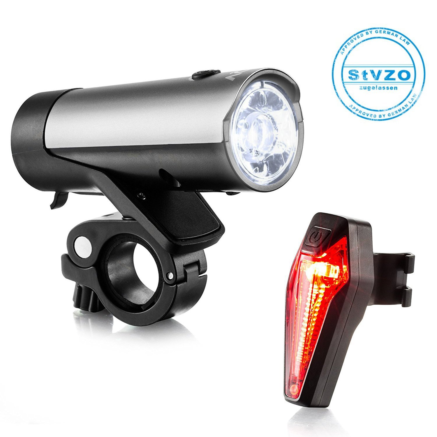 Bike Lights USB Rechargeable Bicycle Torch